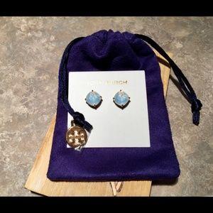 Tory Burch Gold tone crystal earrings
